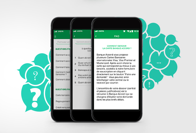 Landing page application mobile Banque Accord